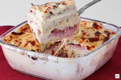 Sanduíche cremoso de forno I Love Food, Good Food, Yummy Food, Great Recipes, Favorite Recipes, Cupcakes, Pasta, Learn To Cook, International Recipes