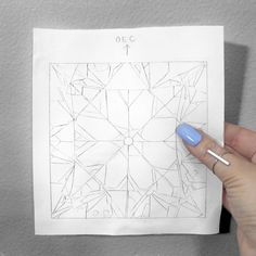 A prep study for the old european cut diamond painting for 💎✍🏻 Diamond Template, Diamond Pattern, Crystal Tattoo, European Cut Diamonds, Sketch Drawing, Diamond Are A Girls Best Friend, Art Oil, Fiber Art, Quilt Patterns