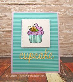 Jen Carter, card, cupcake, Clearly Whimsy