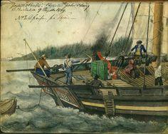 """""""Avreisen fra Trondhjem med jekten """"Haabet"""",  9 september 1849   Flickr"""