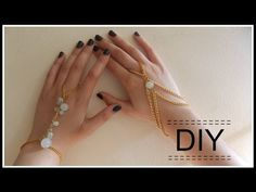 DIY: Hand and ring chain/bracelet [Part 2] - YouTube