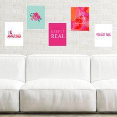 Printable Pack, Digital Download, Instant Gallery Wall, Printable Download, Art Print, Inspirational Quote, Motivational Art