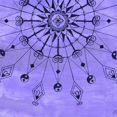 I was inspired by some of the henna art I saw on Pinterest this morning and I am in a purple mood - as always. I used a watercolor base and then a micron liner. #art #doodle #drawing #mandala #mandalaart #watercolor