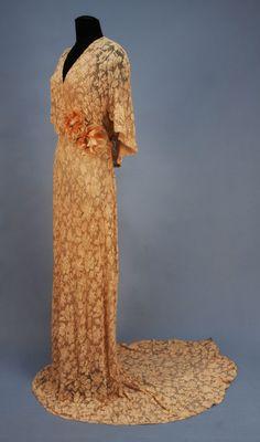 Gorgeous Evening Dress Edward Molyneux, 1930s Whitaker Auctions