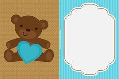 Convites de ursinhos editáveis prontos para baixar, editar e imprimir - Cantinho do blog