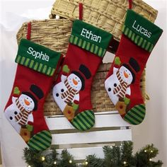 Personalised Christmas Stocking - Frosty Snowman. A favourite Personalised Christmas decoration for children. €13.99 | WowWee.ie