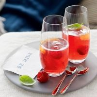 Valentines day menu... Photo: Raspberry Champagne cocktail
