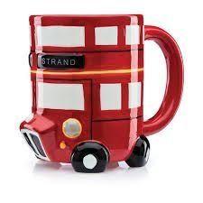 Caneca de Porcelana Onibus de Londres Vermelho - Lojatip - Loja Tip - Dicas de presentes criativos   originais
