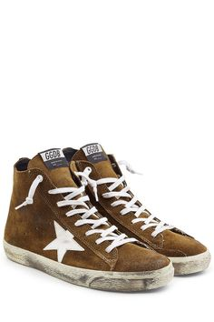 GOLDEN GOOSE Francy Suede High-Top Sneakers. #goldengoose #shoes #