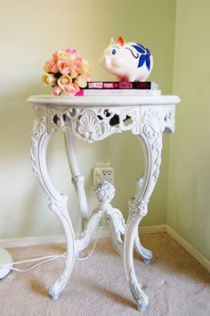 Furniture face lift: Ornate side table