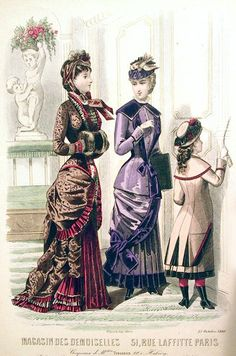 19th Century Fashion Plate: Magasin des Demoiselles, 1880 by CharmaineZoe, via Flickr