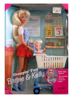 The Cheerios stick to her hands!  Mattel Barbie and Kelly Shoppin' Fun Playset (1995) - Product Reviews and Prices - Shopping.com
