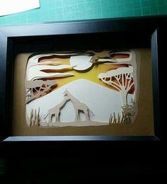 New design #layercut #papercut #papercraft by Daisy jayne handmade. Beautiful #giraffe #giftideas