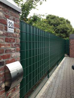 Sichtschutz SIGMA für Doppelstabmatten 26 lfdm in moosgrün.