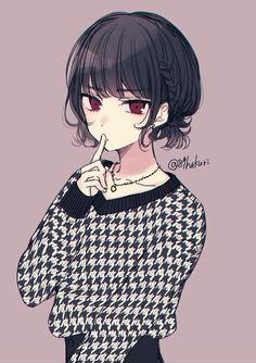 Anime Neko, Kawaii Anime Girl, Anime Art Girl, Manga Anime, Anime Girls, Anime Girl With Black Hair, Pretty Anime Girl, Beautiful Anime Girl, Manga Girl