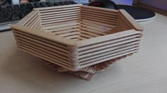 bowl from popsicle sticks
