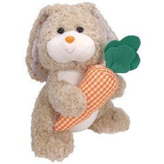 Ty Beanie Buddy - Veggies The Bunny 9 Inch Stuffed Animal Toy Easter Gift for sale online Beanie Buddies, Ty Beanie, Cuddle Buddy, Good Night Moon, Easter Gift, Pet Toys, Cool Toys, Cuddling, Veggies