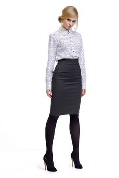 Elegantná košeľa značky LADY M. www.avous.sk/novinky Office Fashion, Work Fashion, Women Bow Tie, Lady M, Pretty Shirts, Office Looks, Straight Skirt, White Shirts, Elegant Woman