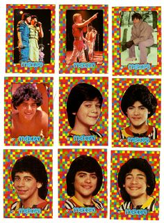 Menudo stickers - Menudo was the NKOTB of my grade-school days.  All the girls had crushes on them
