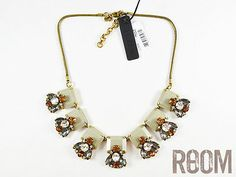 Authentic J Crew Crystal and Stone Row Necklace
