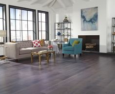 The new neutral - gray floors set the stage for your décor!