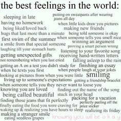 the best feelings in the world: