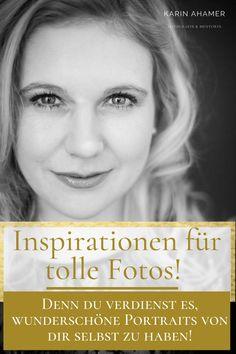 Du stehst vielleicht nicht gerne vor der Kamera, weil die Bilder nie so   aussehen, wie du wirklich bist oder wie du dich fühlst. Die Fotos sind   nicht schmeichelhaft oder du denkst dir vielleicht sogar, dass du nicht   fotogen bist. ABER: Authentische und natürliche Fotos deines wahren,   wunderbaren Selbst zu haben, ist DER ultimative Selbstwert- und   Erfolgsschub | karinahamer.com Inspiration, Linz, Portrait Photography Poses, Camera, Woman, Nice Asses, Biblical Inspiration, Inhalation