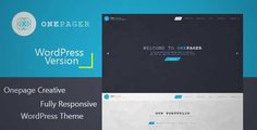 Download and review of Onepager - Responsive One Page Wordpress Theme, one of the best Themeforest Creatives themes