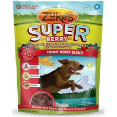 ZUKES SUPER FOOD YUMMY BERRY BLEND DOG TREATS - BD Luxe Dogs & Supplies