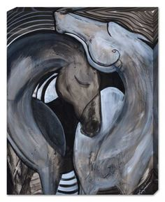 Spiral Horse Art Canvas by Erica Nordean