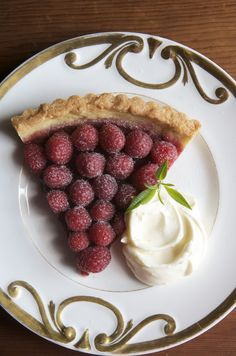 Raspberry Tart with Mascarpone Cream. The secret is the almond crust! Click for full recipe from Canal House Cooking.