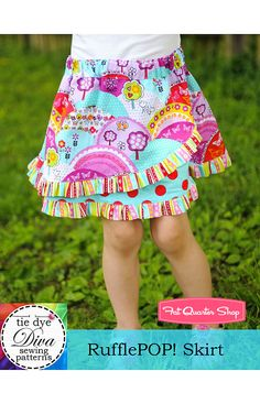 RufflePOP! Skirt Downloadable PDF Pattern Tie Dye Diva Patterns - Fat Quarter Shop