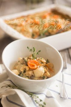 Seafood Florentine Casserole | thehealthyfoodie.com