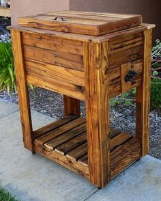 Upcycled Rustic Custom Wood Coolers | Upcycle Art