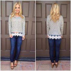 Gold Lurex Knit Sweater Top
