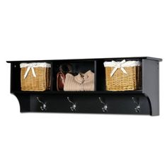 Prepac - Entryway Cubby Shelf - Black (772398520377)