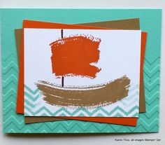 Use the Work of Art stampin up stamp set to create this sailboat on the Coastal Cabana seas! Perfect for kids cards and for anyone who loves to sail. This versatile stamp set can be used for all kinds of images!