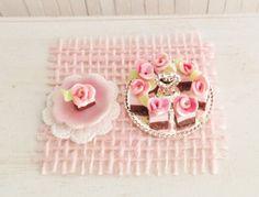 Miniature Fancy Cakes On A Silver Dessert by LittleThingsByAnna