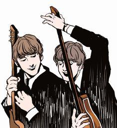 Beatles One, The Beatles Help, Beatles Guitar, John Lennon, Fanart, Fandoms, The Fab Four, Ringo Starr, Paul Mccartney