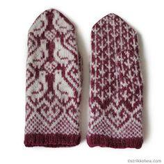 mønstervotter i tove Ravelry, Gloves, Mittens, Loom Knit