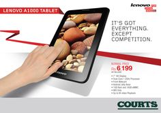 """Attention #MusicLovers: The tablet you've been waiting for has arrived!!  The Lenovo A1000 is a 7"""" tablet that's packed with features designed to enhance music performance. #PlayCool #Smart #Technology #GoDigital Available in our Showrooms"""