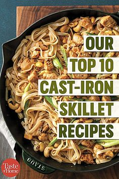 It's time to pull out your trusty cast-iron skillet! From mains to desserts, these top-rated cast-iron skillet recipes are calling your name. Our Top 10 Cast-Iron Skillet Recipes - Our Top 10 Cast-Iron Skillet Recipes Best Cast Iron Skillet, Cast Iron Skillet Cooking, Iron Skillet Recipes, Cast Iron Recipes, Cooking With Cast Iron, Chicken Cast Iron Skillet, Cast Iron Chicken Recipes, Chicken Skillet Recipes, Skillet Dinners