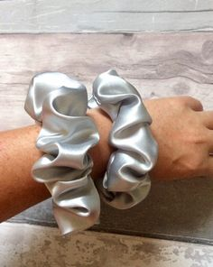 Excited to share this item from my #etsy shop: Handmade satin hair silver scrunchies scrunchie bobble hair tie regular large sizes #birthday #christmas #sleepwear #satinscrunchie #loungewear #scrunchy #scrunchies #scrunchie #bobble #silver Price Signs, Medium Long Hair, Satin, Silver Hair, Loungewear, Hair Ties, Etsy Shop, Long Hair Styles