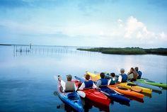 Kayaking at Janes Island State Park.