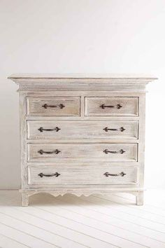Dresser White Washed Furniture, Distressed Furniture, Shabby Chic Furniture, Bedroom Furniture, Home Furniture, Furniture Stores, Furniture Ideas, Furniture Movers, Apartment Furniture