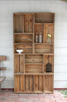 cute! looks like you just attach some wine crates together! no directions, though.