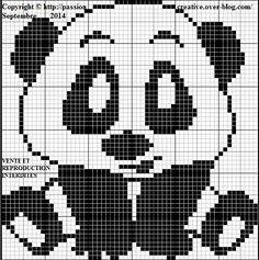 Grille gratuite point de croix : Bébé Panda - Le blog de Isabelle