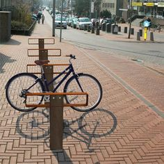 STREETLIFE Bike-Key Bicycle Racks. #StreetFurniture #UrbanDesign #BikeRack #CorTen