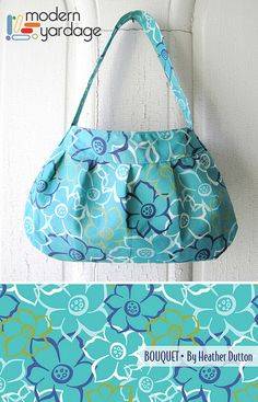 Garden Party Bouquet Purse - Fabric design by Heather Dutton @Modern Yardage