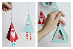 Modern printable Christmas ornaments from Smallful brighten up the tree.